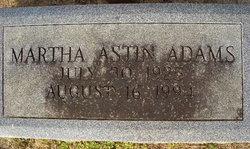 Martha <i>Astin</i> Adams