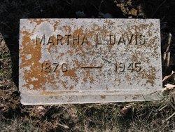 Martha L. <i>Dean</i> Davis
