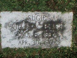 Willie V Sugie <i>Stewart</i> Black