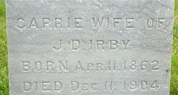 Carrie April <i>Spangle</i> Irby