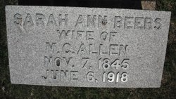 Sarah Ann <i>Beers</i> Allen