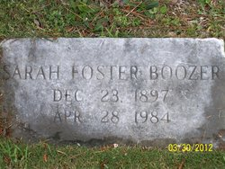 Sarah <i>Foster</i> Boozer