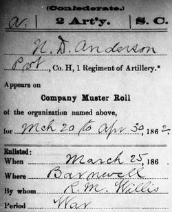 Pvt Nathan D. Anderson