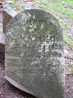 Mary Ann Nancy <i>Baughman</i> Anderson