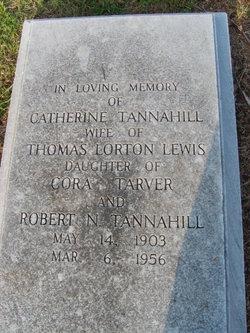 Catherine <i>Tannahill</i> Lewis