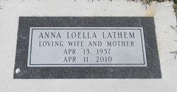 Anna Loella <i>Swearengin</i> Lathem