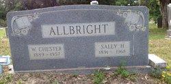 Sarah May Sally <i>Hauck</i> Allbright