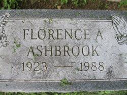 Florence A <i>Lapham</i> Ashbrook