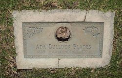 Ada <i>Bullock</i> Blades