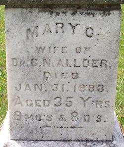 Mary O <i>Pemberton</i> Allder