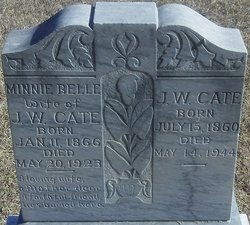 Minnie Belle <i>McGlaughlin</i> Cate
