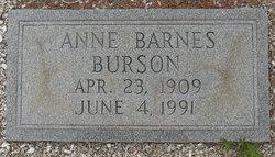 Sarah Anne <i>Barnes</i> Burson