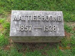 Martha Phelps Mattie <i>Lewis</i> Boone