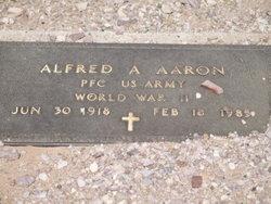 Pvt Alfred Adolf Aaron