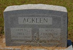 Arren Hill Acklen