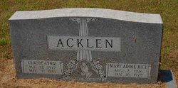 Mary Addie <i>Rice</i> Acklen