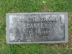 Willie <i>Rosamond</i> Caffey