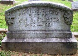 Amy C <i>Warfield</i> Alexander