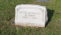 Nettie <i>Beckman</i> Alexander