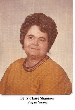 Betty Claire <i>Shannon</i> Vance