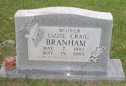 Lizzie <i>Craig</i> Branham
