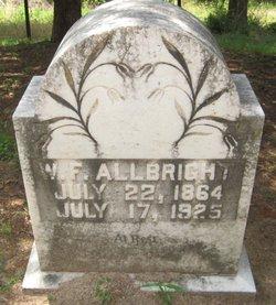 William Franklin W F Allbright