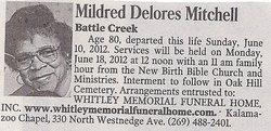 Mildred Delores Mitchell