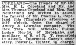 Charles Leroy Charlie Copeland