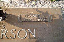 Frances <i>L</i> Anderson