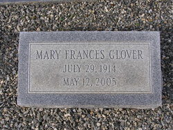 Mrs Mary Frances <i>Homes</i> Glover