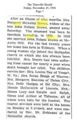 Margaret Jane <i>McAuley</i> Brown