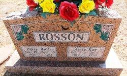 Patsy Ruth <i>Dixson</i> Rosson