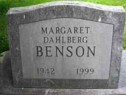 Margaret <i>Dahlberg</i> Benson