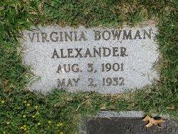 Virginia <i>Bowman</i> Alexander