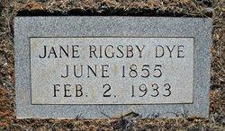 Jane <i>Rigsby</i> Dye