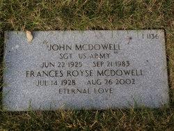 Frances <i>Royse</i> McDowell