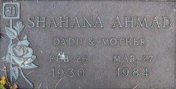 Shahana Ahmad