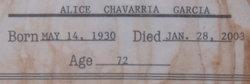 Alice <i>Chavarria</i> Garcia