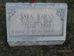 Sara <i>Ritchey</i> Karns