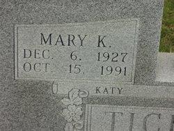 Mary Kathleen <i>Teehee</i> Tichenor