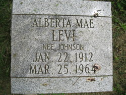 Alberta Mae <i>Johnson</i> Levi