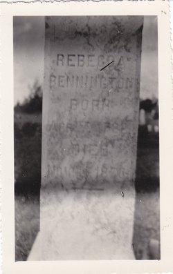 Rebecca <i>Colley</i> Pennington