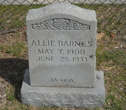 Allie <i>Burgess</i> Barnes