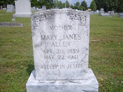 Mary Odell Mollie <i>Janes</i> Allen