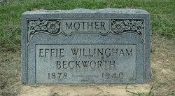 Effie <i>Willingham</i> Beckworth
