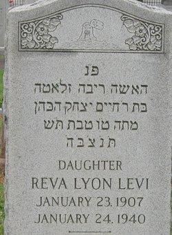 Reva <i>Lyon</i> Levi