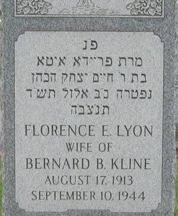 Florence E <i>Lyon</i> Kline