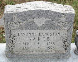 La Vonne <i>Langston</i> Baker