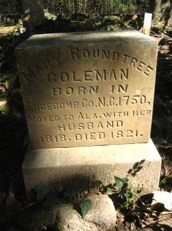 Mary <i>Roundtree</i> Coleman