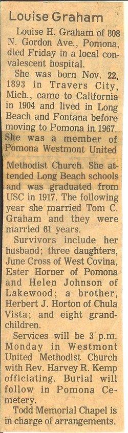 Louise <i>Horton</i> Graham